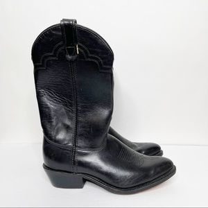 Double-H Western Classic Black Leather Boots 3219